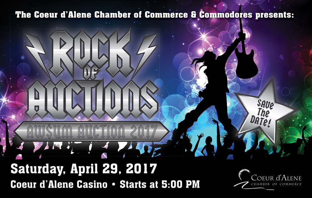 Aw$um Auction - Coeur d'Alene Chamber Commodores @ Coeur d'Alene Casino | Worley | Idaho | United States