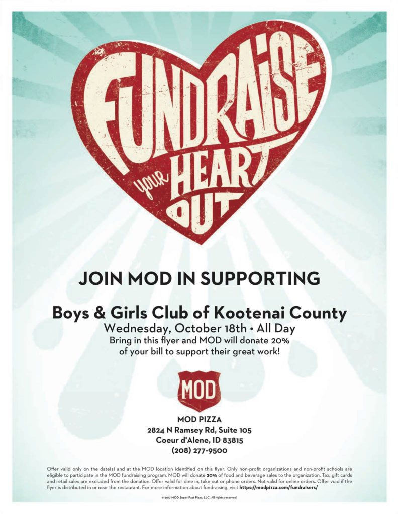 Mod Pizza Give Back Day @ Mod Pizza | Coeur d'Alene | Idaho | United States